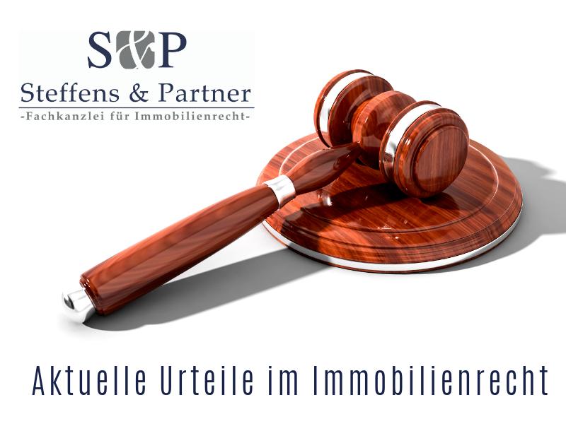 Aktuelles Urteil im Immobilienrecht