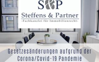 Gesetzesänderungen aufgrund der Corona/Covid-19 Pandemie