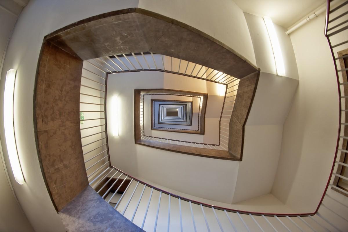 Foto einer Treppe